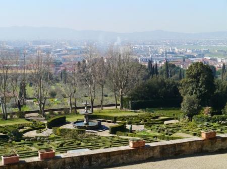The garden of the villa la Petraia in Castello  in Italy in spring Stock Photo - 18786503