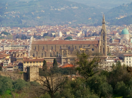 View of the Santa Groce in Florence in tuscany in Italy Stock Photo - 18855458