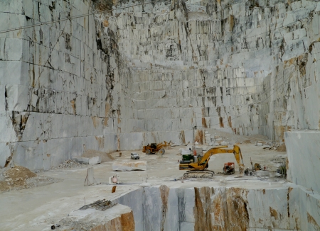 An open quarry of white marble in Carrara in Tuscany in Italy Stock Photo - 18786550
