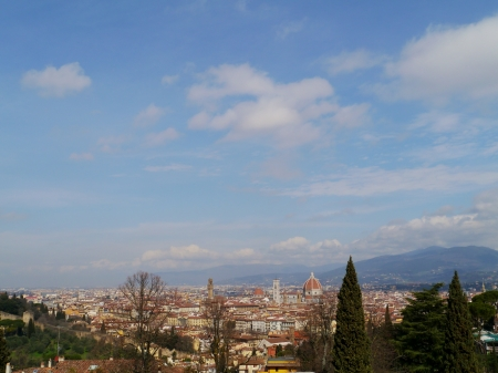 Panoramic view on Florence in Tuscany in Italy Stock Photo - 18876287
