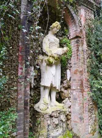 One of the sculptures in the garden of the villa Garzoni in Collodi in Italy Stock Photo - 18889029