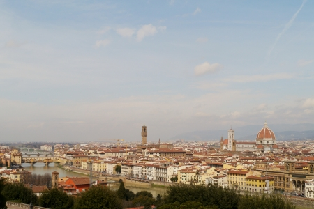 Panoramic view on Florence in Tuscany in Italy Stock Photo - 18878129