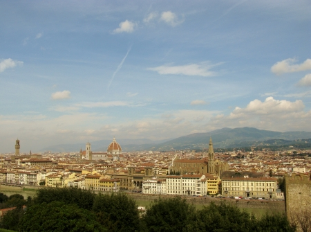 Panoramic view on Florence in Tuscany in Italy Stock Photo - 18877402