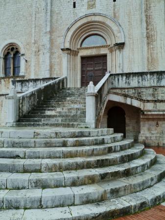 El palacio del c�nsul en Gubbio, en Umbr�a en Italia Foto de archivo - 18889036