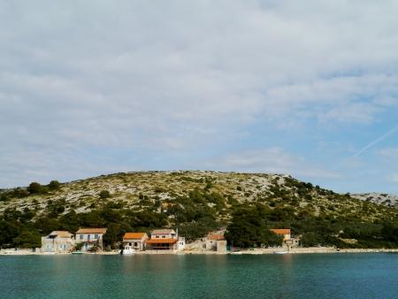 The settlement on the island Lavsa in the Kornati archipelago in Croatia Stock Photo - 19156632