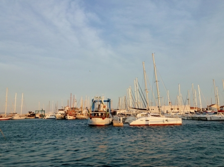 betina: A view at the marina of Betina on the island Murter in the Adriatic sea of Croatia