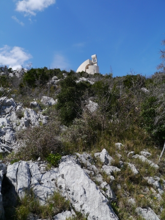 The church of our lady of Carmel on the Okit hill above Vodice  in Croatia Stock Photo - 19220626