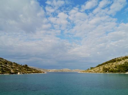 kornat: The island Kornat seen from the bay of Lavsa in the Kornati national park in Croatia