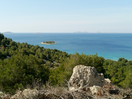 The island Tuzbina near the Kosirina bay of the island Murter in Croatia Stock Photo - 19220609