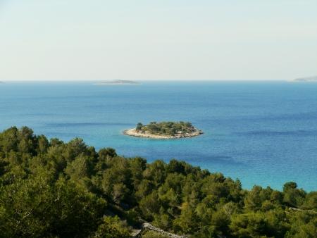 The island Tuzbina near the Kosirina bay of the island Murter in Croatia Stock Photo - 19220601