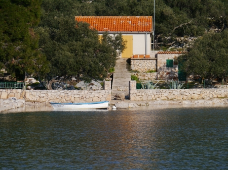 The settlement on the island Lavsa in the Kornati archipelago in Croatia Stock Photo - 19220615