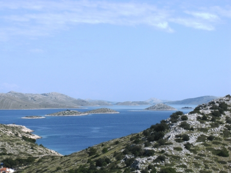 View on the Kornati national park from the island Levrnaka in Croatia Stock Photo - 19220632
