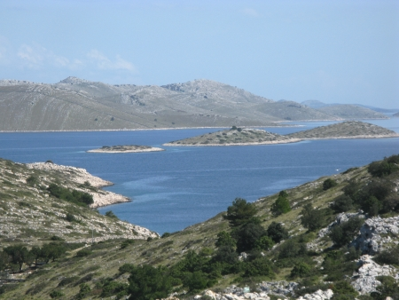 View on the Kornati national park from the island Levrnaka in Croatia Stock Photo - 19220635