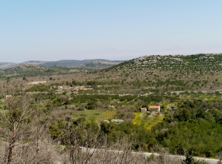 The landscape above Vodice in Croatia seen from the Okit hill Stock Photo - 19220642