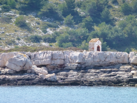 A chapel on one of the Kornati islands in Croatia Stock Photo - 19220690
