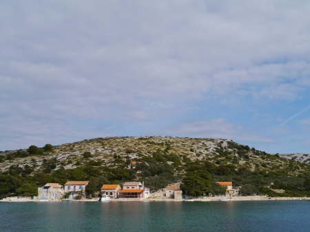 The settlement on the island Lavsa in the Kornati archipelago in Croatia Stock Photo - 19220654