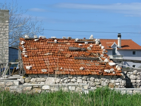 An old barn with orange tiles Stock Photo - 19220672