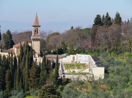 A church and a graveyard in Castello near Florence in Italy Stock Photo - 19220719