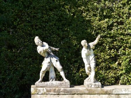 Sculptures in de boboli gardens in Florence in Italy Stock Photo - 19220700