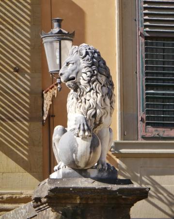 Sculpture in de boboli gardens in Florence in Italy Stock Photo - 19220645