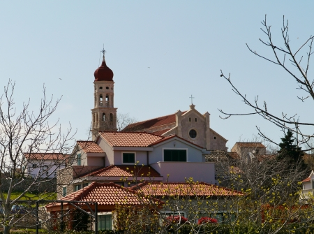The church of the village Betina at Murter in Croatia  photo