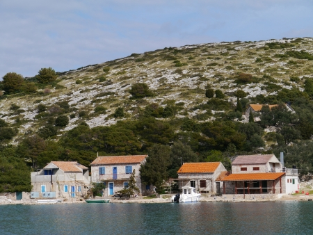 The settlement on the island Lavsa in the Kornati archipelago in Croatia Stock Photo - 19220744