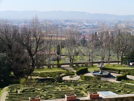 The garden of the villa la Petraia in Castello  in Italy in spring Stock Photo - 19220765