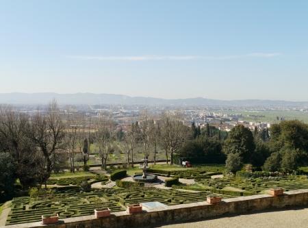 The garden of the villa la Petraia in Castello  in Italy in spring Stock Photo - 19220658