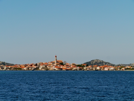 The Croatian village Betina on the island Murter in the Adriatic sea in Croatia photo