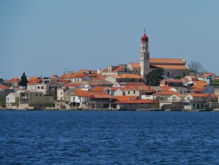 murter: The Croatian village Betina on the island Murter in the Adriatic sea in Croatia Stock Photo