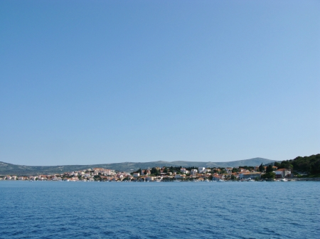 mainland: A bay of Rogoznica on the mainland of Croatia in the Mediterranean Stock Photo