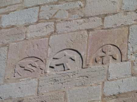 A detail of the Bro kyrka a medieval Lutheran church on the island Gotland in Sweden photo