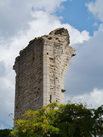 hans: Ruin of the saint Hans church in Visby on the island Gotland in Sweden Stock Photo