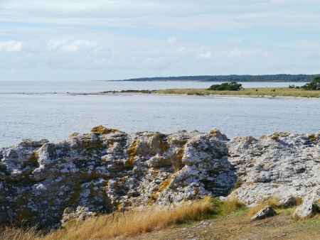 Raukars at the coast of the island Gotland in the Baltic sea of Sweden Stock Photo - 23056356