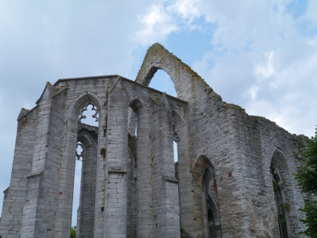 Ruin of the saint Catherine church in Visby on the island Gotland in Sweden photo