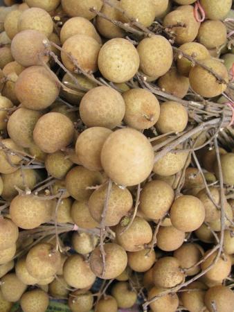 greengrocer: Longan la fruta en la verduler�a en el mercado Foto de archivo
