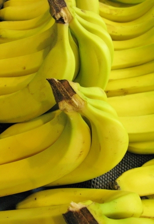 seasonally: bananas at the greengrocer on the market place