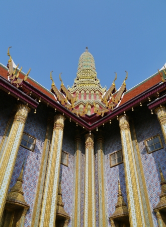 The  royal  grand palace in Bangkok in Thailand photo