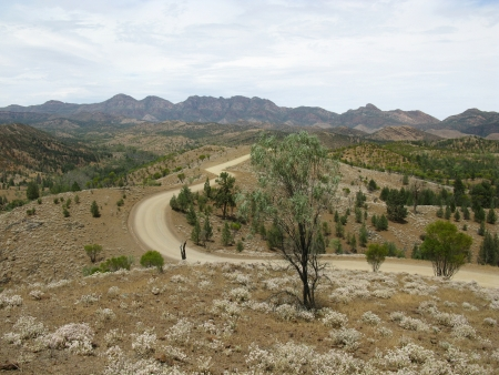 ranges: Landscape of the Flinders Ranges in South Australia Stock Photo