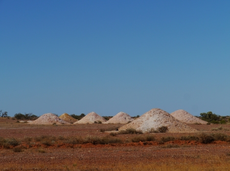 chrystals: Opal mines in Coober Pedy of Australia