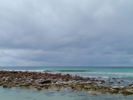 Rocks and the southern ocean of Australia photo