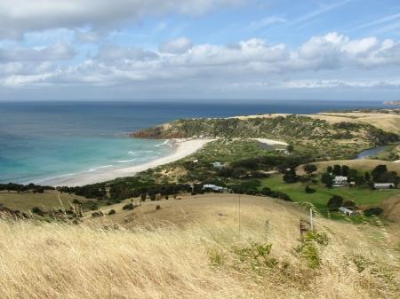 A view of Snelling beach on Kangaroo island in Australia photo