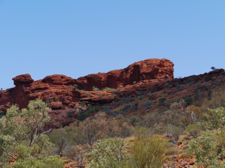 kings canyon national park: View of the sandstone rocks at Kings Canyon in Australia Stock Photo