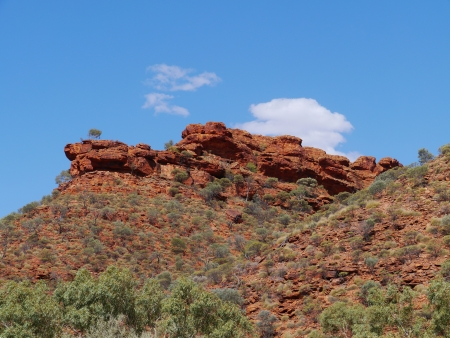 kings canyon national park: View of the sandstone rocks at Kings Canyon in the Watarrka National Park in Northern Territory in  Australia