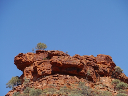 View of the sandstone rocks at Kings Canyon in the Watarrka National Park in Northern Territory in  Australia photo