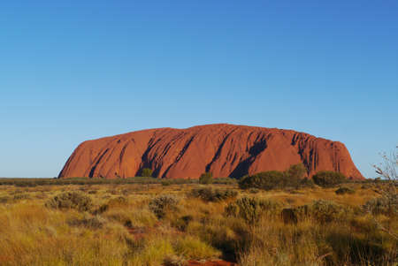 Ayers rock or Uluru a sandstone formation in the Northern territory in Australia