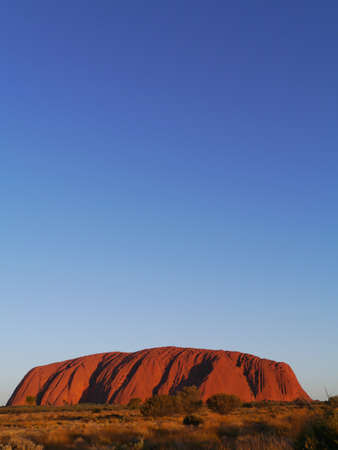 rock formation: Ayers rock or Uluru a sandstone formation in the Northern territory in Australia Editorial