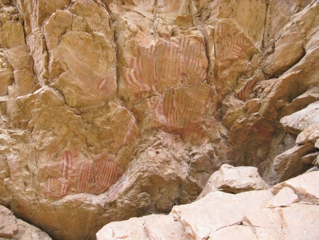 The emily gap or Anthwerrke in the Northern Territory in Australia with Aboriginal paintings photo