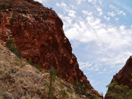 ranges: The simsoms gap in the West McDonnell ranges in the Northern Territory in Australia
