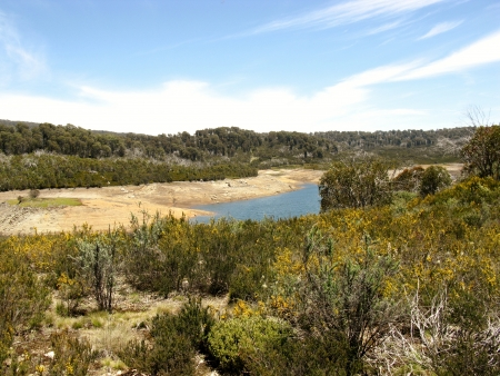 Tooma reservoir in the Tooma river in the Snowy Mountains of New South Wales in Australia photo